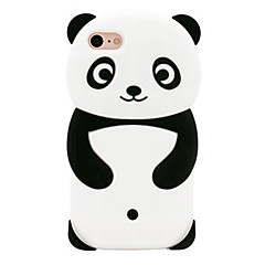 billige iPhone-etuier-Etui Til Apple iPhone 8 iPhone 7 Mønster Bagcover Panda Blødt Silikone for iPhone 8 iPhone 7