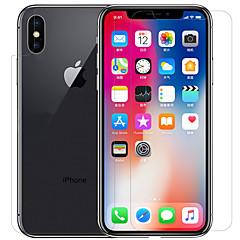 Недорогие Защитные пленки для iPhone X-Nillkin Защитная плёнка для экрана для Apple iPhone X PET 1 ед. Защитная пленка для экрана и задней панели HD / Ультратонкий / Защита от царапин