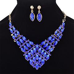 abordables Juegos de Joyería-Mujer Cristal Geométrico Conjunto de joyas - Cristal Moda Incluir Amarillo Claro / Rojo / Azul Para Boda Fiesta