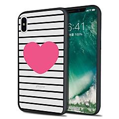 Недорогие Кейсы для iPhone 5-Кейс для Назначение Apple iPhone X iPhone 8 Plus С узором Кейс на заднюю панель Полосы / волосы Мягкий ТПУ для iPhone X iPhone 8 Pluss