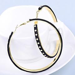 Damskie Kolczyki wiszące , Modny Skórzany Circle Shape Biżuteria Codzienny