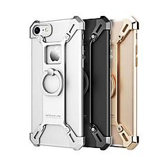 Недорогие Кейсы для iPhone 6-Кейс для Назначение Apple iPhone 7 Plus iPhone 7 Защита от удара Кольца-держатели Кейс на заднюю панель Сплошной цвет Твердый Металл для