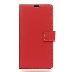 halpa -Etui Käyttötarkoitus OnePlus 5 3T Lomapkko Korttikotelo Ikkunalla Flip Kokonaan peittävä Yhtenäinen väri Kova PU-nahka varten One Plus 5