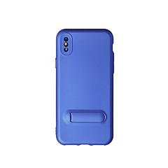 Недорогие Кейсы для iPhone X-Кейс для Назначение Apple iPhone X iPhone X со стендом Чехол Сплошной цвет Мягкий ТПУ для iPhone X