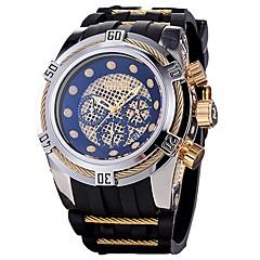 preiswerte Tolle Angebote auf Uhren-Herrn Quartz Sportuhr Japanisch Kalender Chronograph Wasserdicht Silikon Band Freizeit Modisch Cool Schwarz Blau