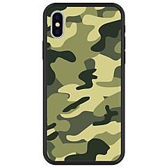 billige Etuier til iPhone 6-Etui Til Apple iPhone X iPhone 8 Plus Mønster Bagcover Camouflage Blødt TPU for iPhone X iPhone 8 Plus iPhone 8 iPhone 7 Plus iPhone 7