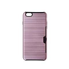Недорогие Кейсы для iPhone 7-Кейс для Назначение Apple iPhone 6 iPhone 6 Plus Бумажник для карт Защита от удара Чехол Сплошной цвет Твердый ТПУ для iPhone 8 Pluss