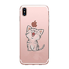 Case For Apple iPhone X iPhone 8 iPhone 8 Plus Ultra-thin Transparent Pattern Back Cover Cat Soft TPU for iPhone X iPhone 8 Plus iPhone 8