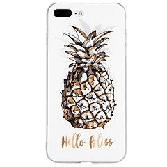 tanie Etui do iPhone 6s-Kılıf Na Apple iPhone X iPhone 8 iPhone 8 Plus iPhone 6 iPhone 6 Plus iPhone 7 Plus iPhone 7 Wzór Wytłaczany wzór Czarne etui Napis Owoc