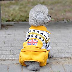 Hond Jumpsuits Hondenkleding Casual/Dagelijks Nationale Vlag Geel Rood Groen Blauw Kostuum Voor huisdieren