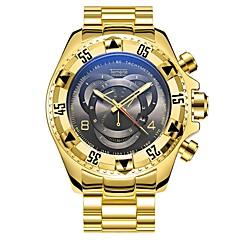preiswerte Tolle Angebote auf Uhren-Herrn Modeuhr Japanisch Armbanduhren für den Alltag Legierung Band Freizeit Schwarz / Silber / Gold