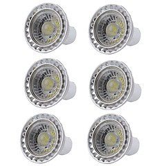 abordables Bombillas LED-6pcs 5W 400lm GU10 Focos LED 1 Cuentas LED COB Regulable Luz LED Blanco Cálido Blanco Fresco 110-130V 220-240V