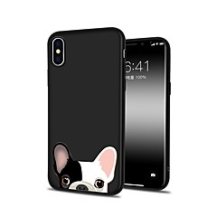 halpa iPhone 6s Plus kotelot-Etui Käyttötarkoitus Apple iPhone X iPhone 8 Plus Kuvio Takakuori Koira Pehmeä TPU varten iPhone X iPhone 8 Plus iPhone 8 iPhone 7 Plus