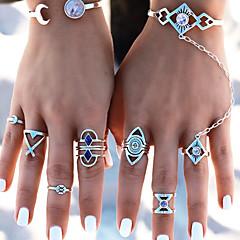 Недорогие Женские украшения-Жен. Массивные кольца Кольцо на кончик пальца , металлический Мода Сплав Геометрической формы Бижутерия Карнавал На выход