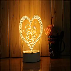 1 ensemble de 3d humeur nuit lumière main se sentir dimmable usb alimenté lampe cadeau