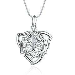 preiswerte Halsketten-Damen Kubikzirkonia Anhängerketten / Ketten - Zirkon, versilbert damas, Süß, Modisch Hypoallergen Silber Modische Halsketten Schmuck Für Geschenk, Alltag