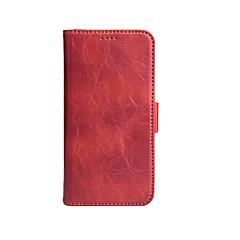 Недорогие Кейсы для iPhone X-Кейс для Назначение Apple iPhone X Бумажник для карт Кошелек Чехол Сплошной цвет Твердый Кожа PU для iPhone X