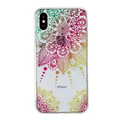 Недорогие Кейсы для iPhone 5-Кейс для Назначение Apple iPhone X iPhone 8 IMD С узором Кейс на заднюю панель Мандала Сияние и блеск Мягкий ТПУ для iPhone X iPhone 8