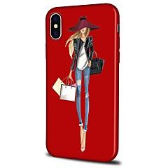 Недорогие Кейсы для iPhone 7-Кейс для Назначение Apple iPhone X / iPhone 8 Plus С узором Кейс на заднюю панель Соблазнительная девушка / Мультипликация Мягкий ТПУ для iPhone X / iPhone 8 Pluss / iPhone 8