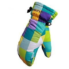 お買い得  スキー手袋-ウインター スキーミトン 子供用 ミトン 保温 防風 横滑り防止 耐久 ポリ&コットン混 キャンピング&ハイキング サイクリング スキー キャンプ/ハイキング/ケイビング オートバイ 冬