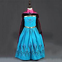Χαμηλού Κόστους Αποκριάτικο Μακιγιάζ-Πριγκίπισσα Παραμυθιού Άννα Φορέματα Μανδύας Παιδικά Χριστούγεννα Μασκάρεμα Γενέθλια Γιορτές / Διακοπές Κοστούμια Halloween Κόκκινο