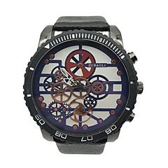お買い得  大特価腕時計-JUBAOLI 男性用 リストウォッチ クォーツ クール 大きめ文字盤 合金 レザー バンド ハンズ ヴィンテージ ユニーククリエイティブウォッチ ブラック - ブラック ダークブルー グリーン 1年間 電池寿命