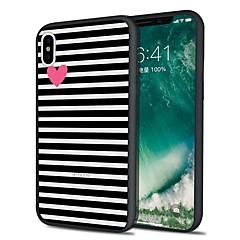 お買い得  iPhone 5S/SE ケース-ケース 用途 Apple iPhone X iPhone 8 Plus パターン バックカバー ライン/ウェイブ ソフト TPU のために iPhone X iPhone 8 Plus iPhone 8 iPhone 7 Plus iPhone 7 iPhone 6s