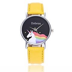 preiswerte Damenuhren-Damen Quartz Armbanduhr Chinesisch Armbanduhren für den Alltag PU Band Freizeit Böhmische Cool Schwarz Weiß Blau Rot Orange Grün Rosa