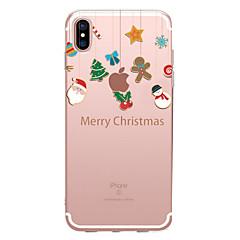 Недорогие Кейсы для iPhone 6 Plus-случай для яблока iphone x xs xr xsmax iphone 8 прозрачный шаблон back cover рождественский мягкий tpu для iphone x iphone 8 плюс iphone 8 iphone 7 plus