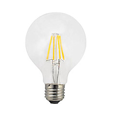 1pc 4W E27 LED Filament Bulbs G80 4 leds COB LED Lights Warm White 360lm 2200-2700K AC 220-240V