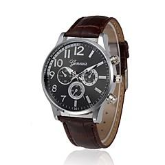 preiswerte Herrenuhren-Damen Armbanduhr Chinesisch Kalender / Chronograph / Wasserdicht Leder Band Freizeit / Modisch Schwarz / Braun / Edelstahl / Sony 377