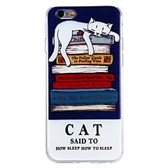 Недорогие Кейсы для iPhone 6 Plus-Кейс для Назначение Apple iPhone 6 iPhone 6 Plus iPhone 7 Plus iPhone 7 С узором Кейс на заднюю панель Кот Слова / выражения Животное