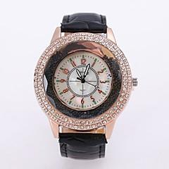 preiswerte Armbanduhren für Paare-Damen / Paar Armbanduhr Chinesisch Armbanduhren für den Alltag / Cool Legierung Band Blume / Freizeit / Modisch Schwarz / Weiß / Rot