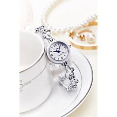 preiswerte Tolle Angebote auf Uhren-Damen Armband-Uhr Armbanduhr Quartz 30 m Wasserdicht Legierung Band Analog Glanz Armreif Modisch Silber / Gold - Gold Silber