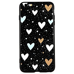 olcso iPhone tokok-Case Kompatibilitás Apple iPhone 8 iPhone 8 Plus iPhone 7 iPhone 7 Plus iPhone 6 iPhone 6 Plus Dombornyomott Minta Hátlap Szív Rajzfilm