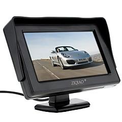 abordables Cámaras para Retrovisor de Coche-ziqiao 4.3 pulgadas monitor de vista trasera del coche con la cámara de respaldo inversa soporte de alta calidad