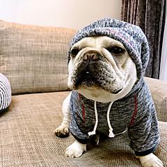 お買い得  犬用ウェア&アクセサリー-犬 パーカー 犬用ウェア ブリティッシュ コーヒー ブルー コットン コスチューム ペット用 男性用 女性用 カジュアル/普段着