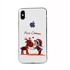 Para iPhone X iPhone 8 iPhone 8 Plus iPhone 7 iPhone 6 Capinha iPhone 5 Case Tampa Estampada Capa Traseira Capinha Natal Macia PUT para