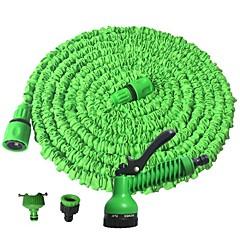 abordables Herramientas de Limpieza-manguera de agua de jardín con boquilla de pulverización que expande lavado de coche de pistola de agua flexible con boquilla