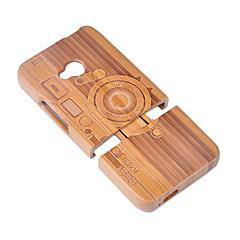 Недорогие Чехлы и кейсы для HTC-Кейс для Назначение HTC Защита от удара Кейс на заднюю панель Геометрический рисунок Твердый Бамбук для HTC One M7