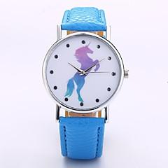 preiswerte Damenuhren-Herrn Damen Quartz Armbanduhr Chinesisch N / A PU Band Freizeit Minimalistisch Schwarz Weiß Blau Rot Orange Grün Rosa Lila Khaki