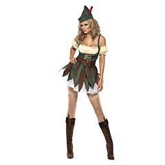 hesapli -Noel Giysisi Kadın Yılbaşı Festival / Tatil Cadılar Bayramı Kostümleri Yeşil Noel