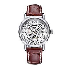 tanie Zegarki mechaniczne-Męskie DZIECIĘCE Modny zegarek mechaniczny Sztuczny Diamant Zegarek Japoński Nakręcanie automatyczne Chronograf Wodoszczelny Na codzień