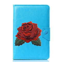 universele bloem pu lederen stand beschermhoes voor 7 inch 8 inch 9 inch 10 inch tablet pc