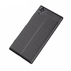 Недорогие Чехлы и кейсы для Sony-Кейс для Назначение Sony Xperia XA1 Ultra Матовое Рельефный Кейс на заднюю панель Сплошной цвет Мягкий ТПУ для Xperia XA1 Plus Sony