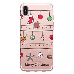 olcso iPhone 6s Plus tokok-Case Kompatibilitás Apple iPhone X iPhone 8 Átlátszó Minta Hátlap Karácsony Puha TPU mert iPhone X iPhone 8 Plus iPhone 8 iPhone 7 Plus