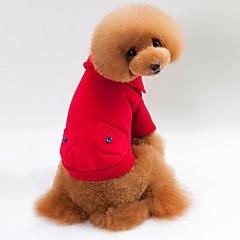 お買い得  猫の服-ネコ 犬 Tシャツ パーカー スウェットシャツ 犬用ウェア スタイリッシュ 保温 純色 グレー レッド ブルー コスチューム ペット用