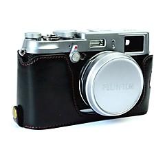 お買い得  ケース、バッグ & ストラップ-フジフイルム用dengpin puレザーハーフカメラケースバッグカバーベースx100 x100s x100t(各種カラー)