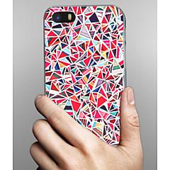 Недорогие Кейсы для iPhone 5с-Кейс для Назначение Apple iPhone X iPhone 8 iPhone 8 Plus Кейс для iPhone 5 С узором Кейс на заднюю панель Геометрический рисунок Твердый