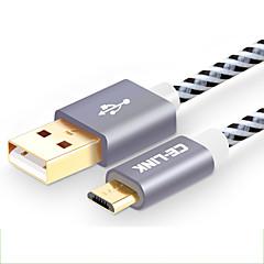 preiswerte Kabel & Adapter-CE-Link USB 2.0 Kabel, USB 2.0 to Micro USB 2.0 Kabel Male - Female 2.0m (6.5FT)